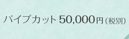 パイプカット50,000円 (税別)