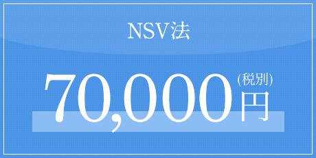 NSV法 70,000円(税別)
