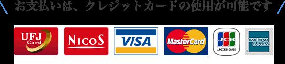 お支払いは、クレジットカードの使用が可能です